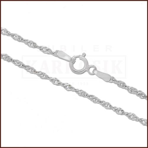 Srebrny Łańcuszek Singapur 45cm pr. 925
