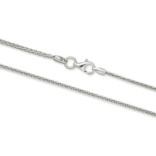 Srebrny łańcuszek Lisi Ogon 50cm pr. 925