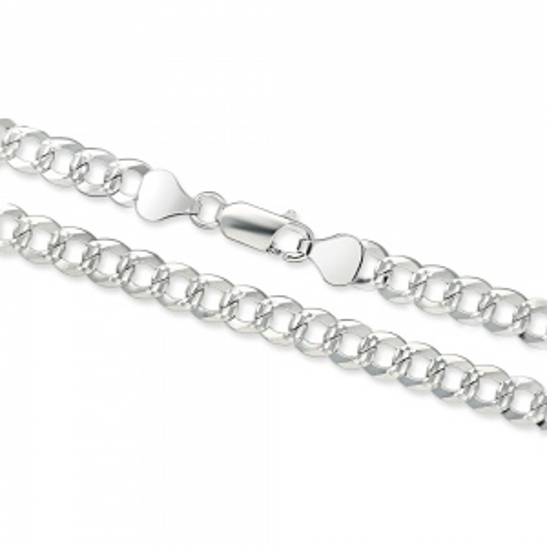Srebrny łańcuszek Pancerka 55cm pr. 925