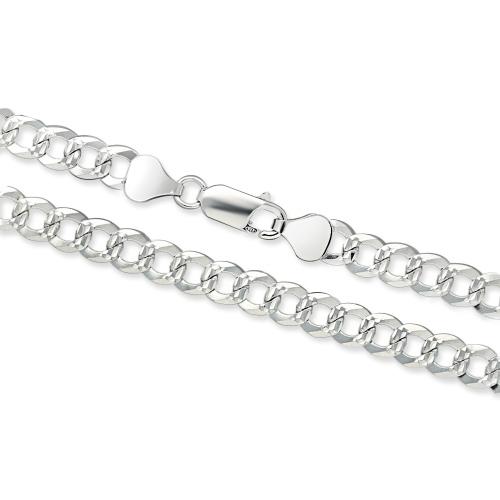 Srebrny łańcuszek Pancerka 60cm pr. 925