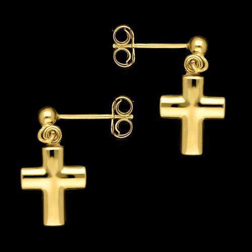 Złote kolczyki - Krzyżyki pr.333