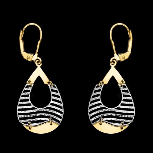 Złote kolczyki - Kropelki pr.585