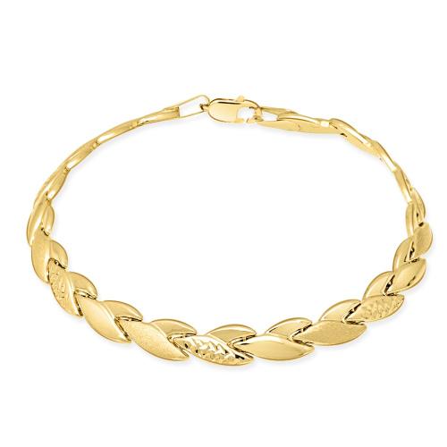 Złota Zdobiona Bransoletka 19cm pr. 585