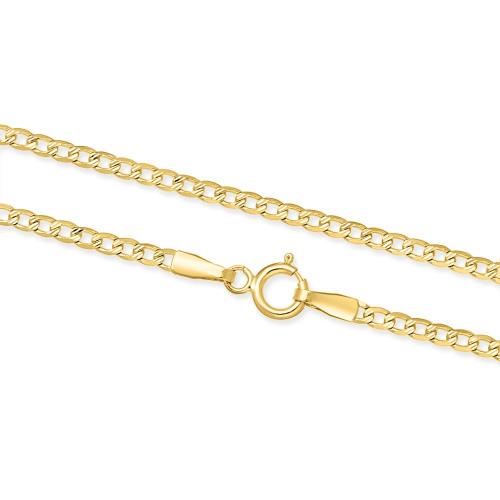Złoty Łańcuszek Zdobiona Pancerka 50cm pr.333