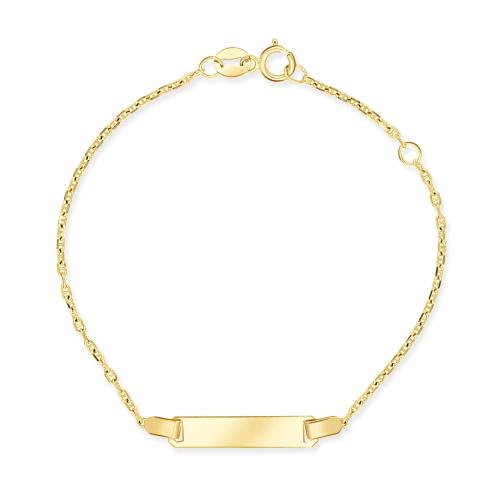 Złota Bransoletka Gucci - Blaszka 16cm pr.333