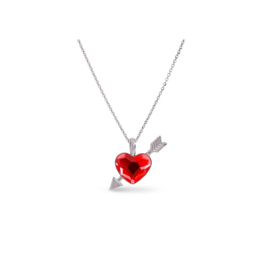 Spark Naszyjnik Pierced Heart NS2808SI