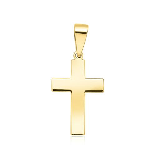 Złota Zawieszka Gładki Krzyżyk pr.333