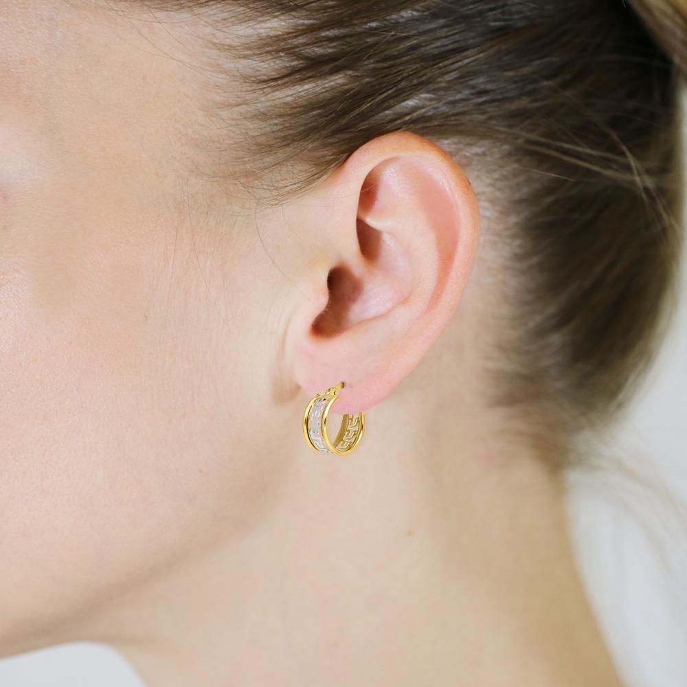 Złote kolczyki - Ażurowe Kółeczka 13mm pr.333