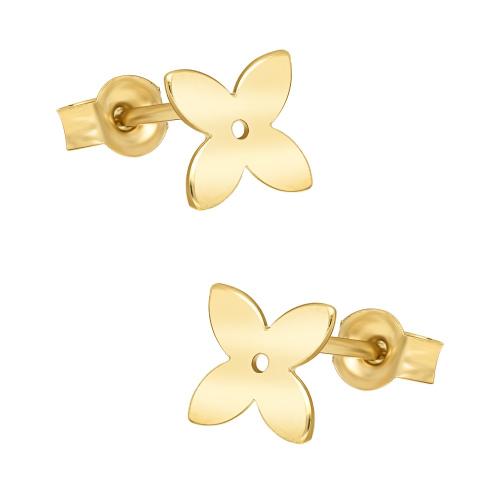 Złote kolczyki - Kwiatki pr.333