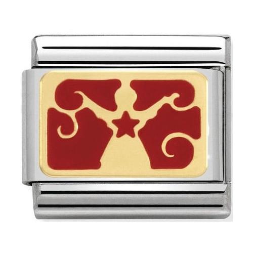 Nomination - Link 18K Gold 'Gwiazdka' 030282/06
