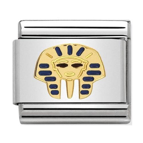 Nomination - Link 18K Gold 'Głowa faraona' 030262/15