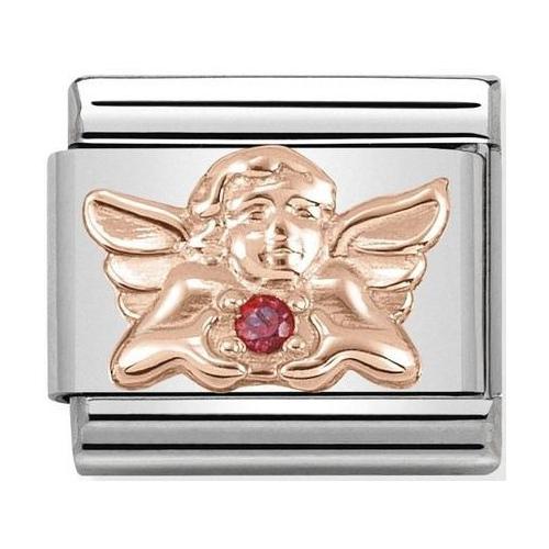 Nomination - Link 9K Rose Gold Aniołek z fioletową cyrkonią 430302/21