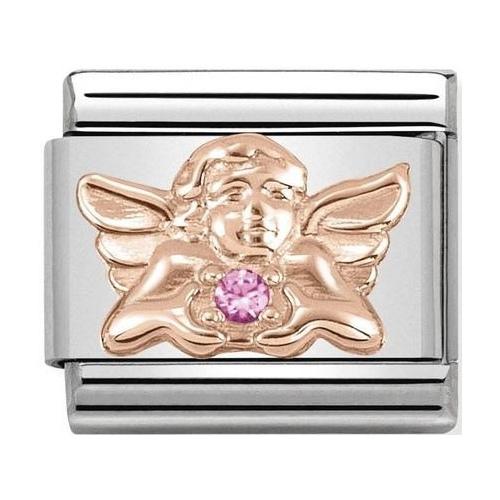 Nomination - Link 9K Rose Gold Aniołek z różową cyrkonią 430302/19