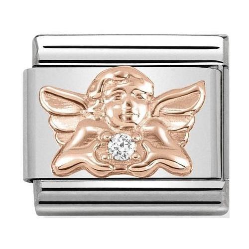 Nomination - Link 9K Rose Gold Aniołek z białą cyrkonią 430302/17