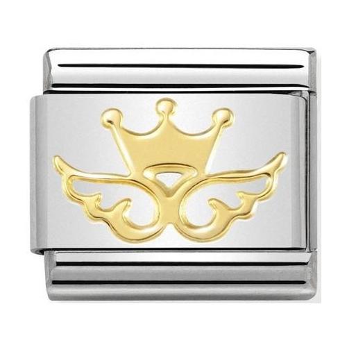Nomination - Link 18K Gold 'Skrzydełka z Koroną' 030162/47