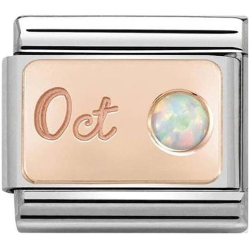 Nomination - Link 9K Rose Gold 'Kamień Urodzinowy Październik - Opal' 430508/10