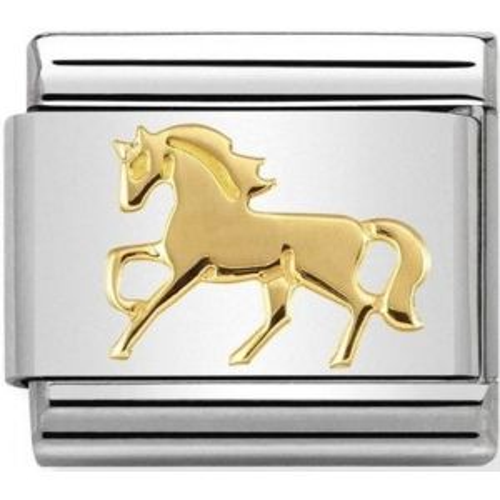 Nomination - Link 18K Gold 'Galopujący Koń' 030149/26
