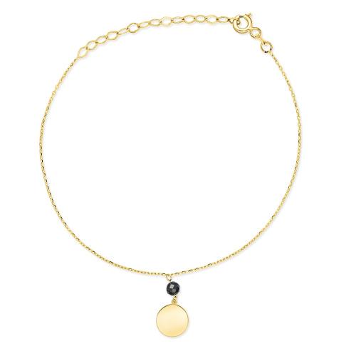 Złota bransoletka celebrytka - Moneta pr.333