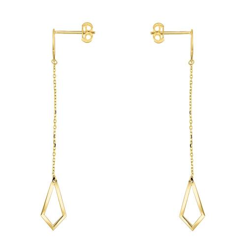 Złote kolczyki z kryształkami - Latawce pr.333