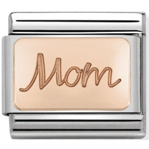 Nomination - Link 9K Rose Gold 'Mom' 430101/33