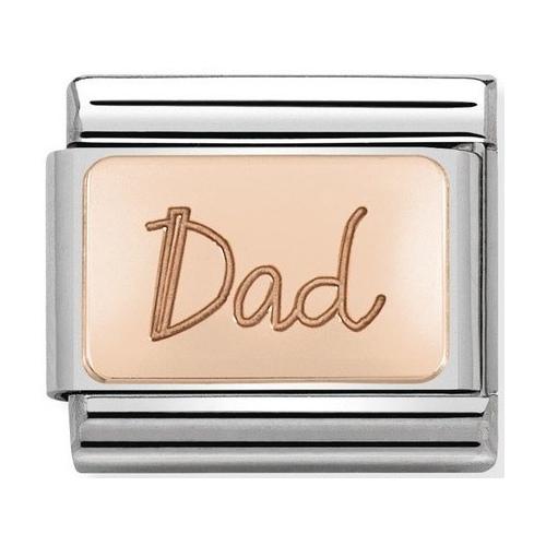 Nomination - Link 9K Rose Gold 'Dad' 430101/32