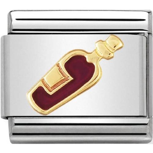 Nomination - Link 18K Gold 'Czerwone Wino' 030218/04