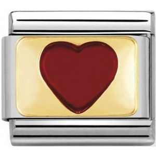 Nomination - Link 18K Gold 'Czerwone Serce' 030207/21