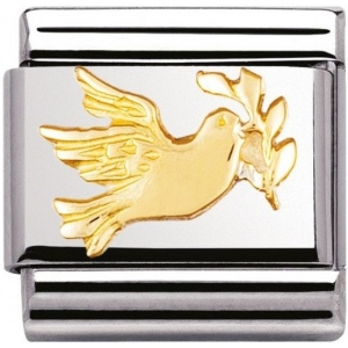 Nomination - Link 18K Gold 'Gołąb Pokoju' 030122/09