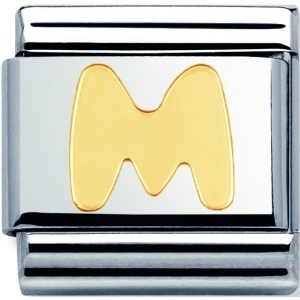 Nomination - Link 18K Gold 'Litera M' 030101/13