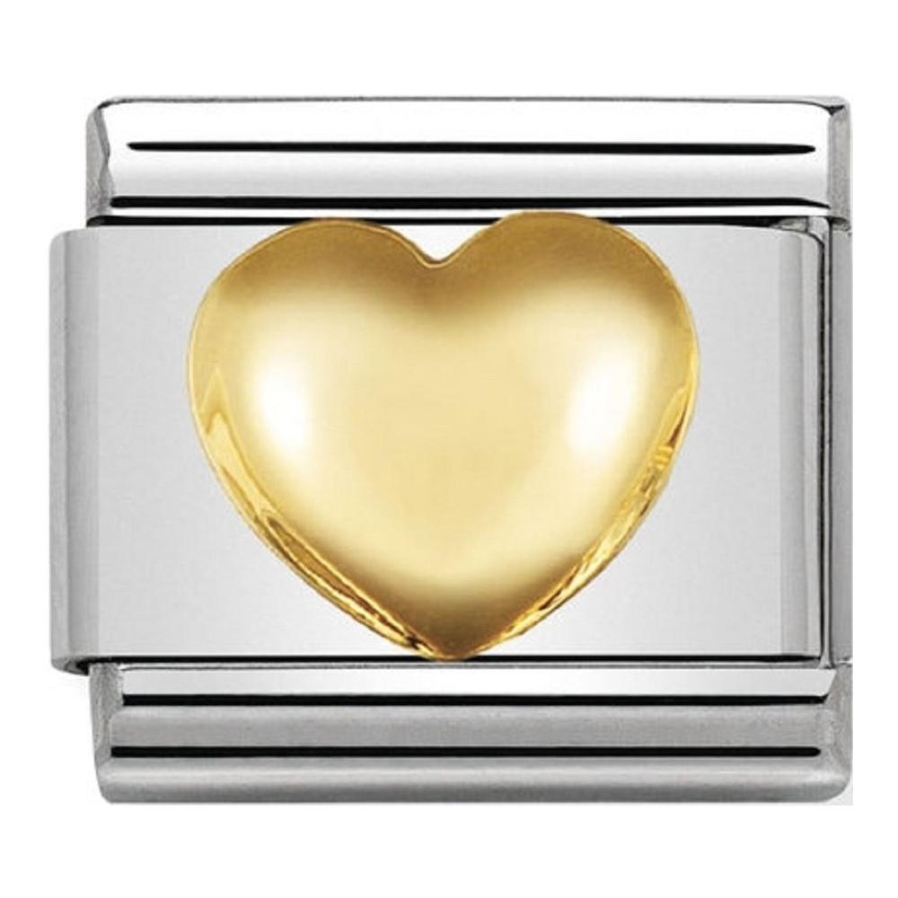 Nomination - Link 18K Gold Gładkie Serce 030116/01