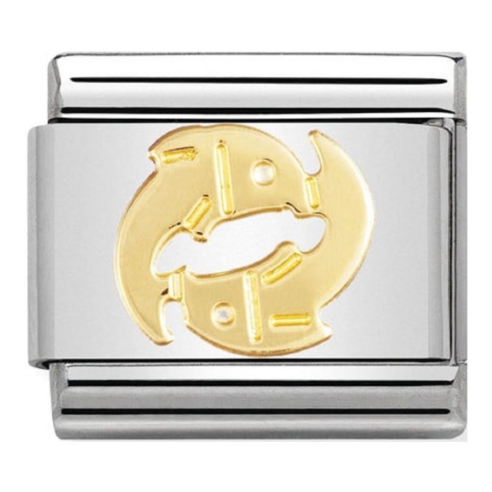 Nomination -  Link 18K Gold Znak Zodiaku Ryby 030104/12