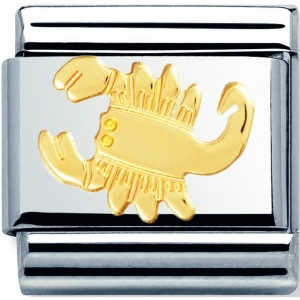 Nomination -  Link 18K Gold Znak Zodiaku Skorpion 030104/08
