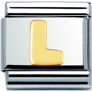 Nomination - Link 18K Gold 'Litera L' 030101/12