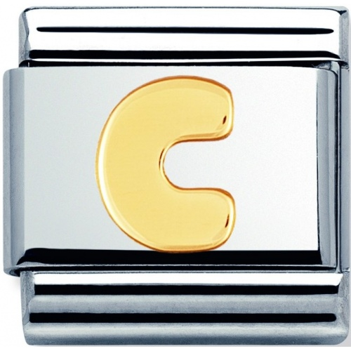 Nomination -  Link 18K Gold Letter C 030101/03