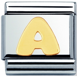 Nomination -  Link 18K Gold 'Litera A' 030101/01