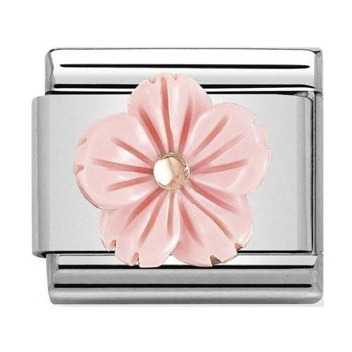 Nomination - Link 9K Rose Gold 'Flower in Pink Coral Paste' 430510/03