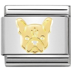 Nomination - Link 18K Gold 'French Bulldog' 030162/54