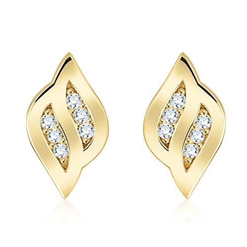 Złote kolczyki z kryształkami pr.333