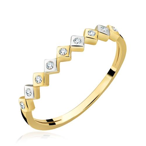 Złoty pierścionek z cyrkoniami - Romby pr.333