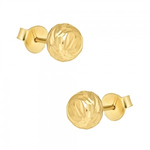 Złote kolczyki - Półkule 6,7mm pr.333