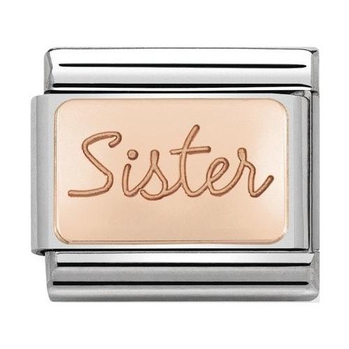 Nomination - Link 9K Rose Gold 'Sister' 430101/38