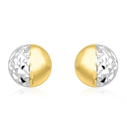 Złote kolczyki - Zdobione Monety pr.333