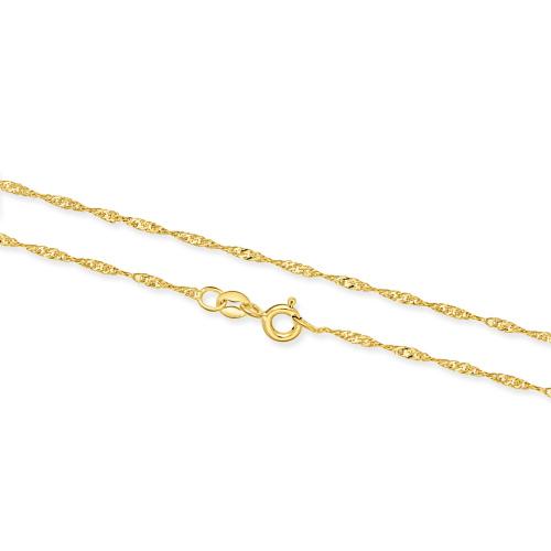 Złoty Łańcuszek Singapur 45cm pr. 333