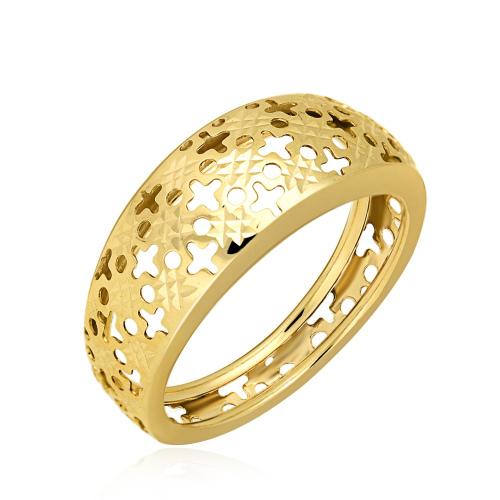 Złoty Ażurowy Pierścionek pr.333