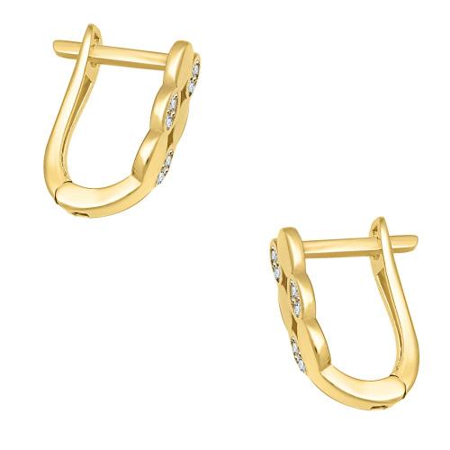Złote kolczyki z cyrkoniami pr.333