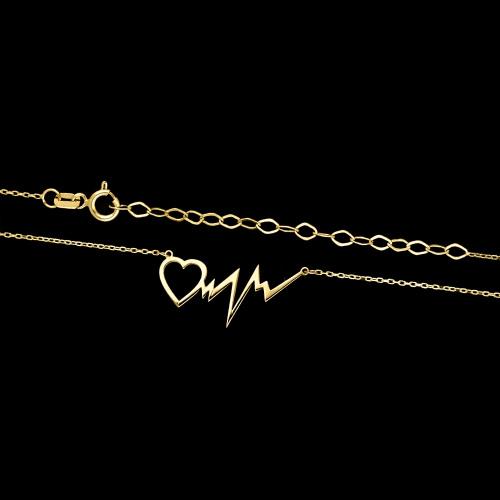 Złoty naszyjnik celebrytka - Serce pr.333