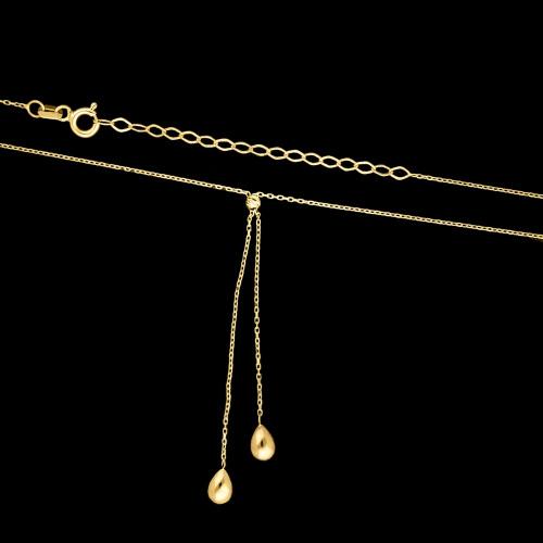 Złoty Naszyjnik - Krople pr.333