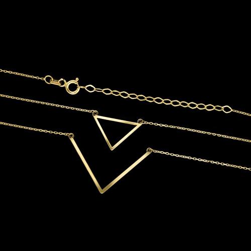 Złoty naszyjnik celebrytka z kryształkami pr.333