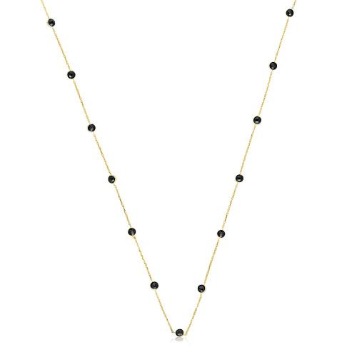 Złoty naszyjnik z kryształkami pr.333