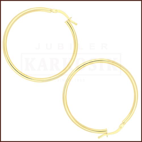 Złote kolczyki - Kółka pr.585